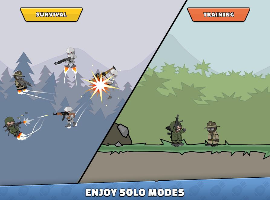 mini militia Solo Modes